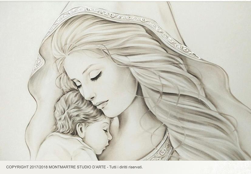 Essential106 2 maternit quadro moderno arredare articolo for Sacra famiglia quadri moderni